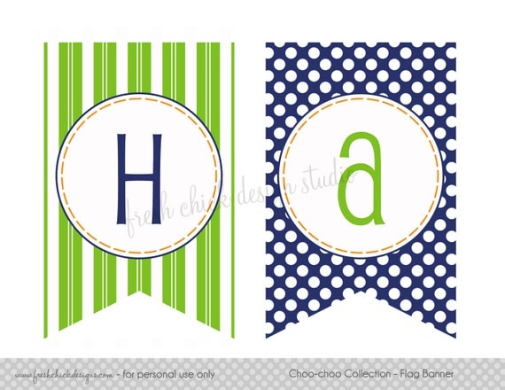 Items Similar To Printable Party Happy Birthday Flag