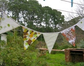 Recycled pillowcase bunting