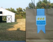 Blue Gingham Check Paper Ribbon - Sweet Classic Design