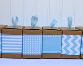 Aqua Paper Ribbon in Pattern of Your Choice