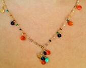 HARMONY Dea Rainbow Gemstone Moroccan Summer Convertible Necklace/Bracelet