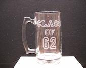 Your graduation year beer mug
