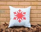 Applique Snowflake Throw Pillow