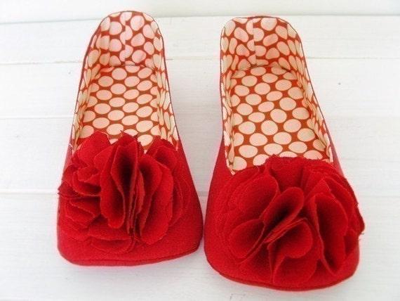 no 138 Juliet Women's Room Shoes PDF Pattern