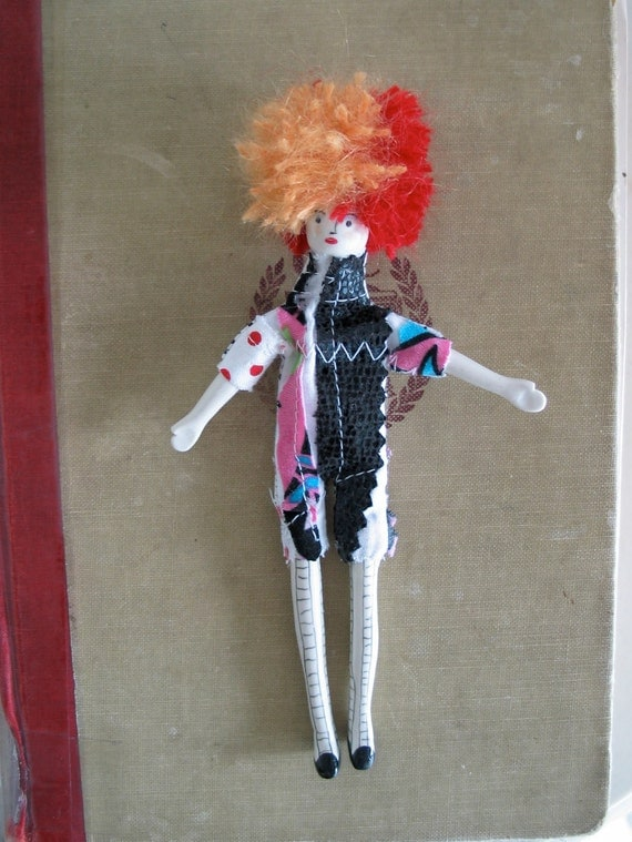 ON SALE/ Handmade Art Doll with mohair afro/ Cyndi / OOAK