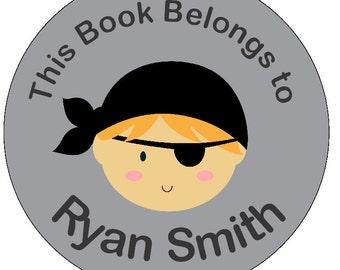 Pirate Book Sticker