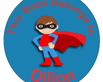 Superhero book sticker