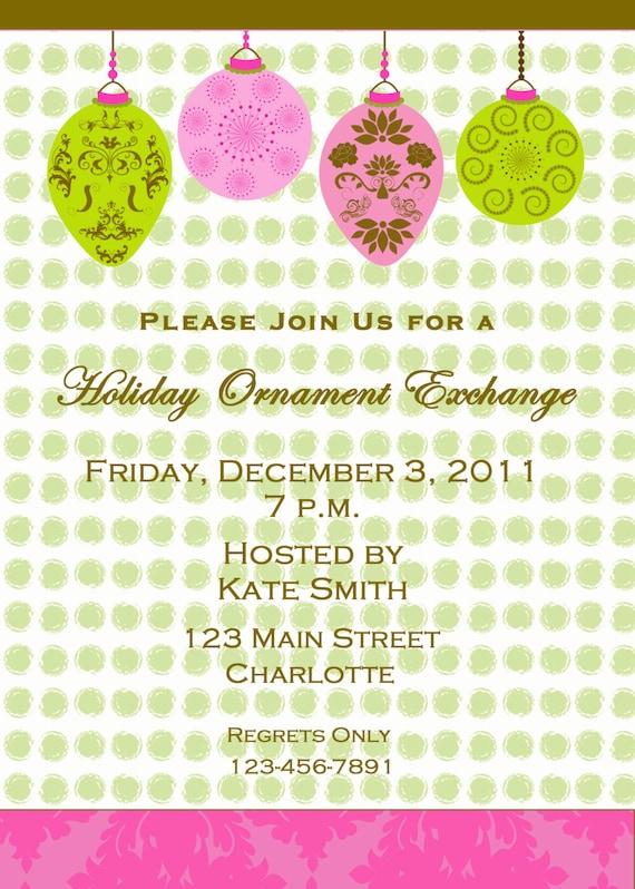 Ornament Party Invitations is good invitation ideas