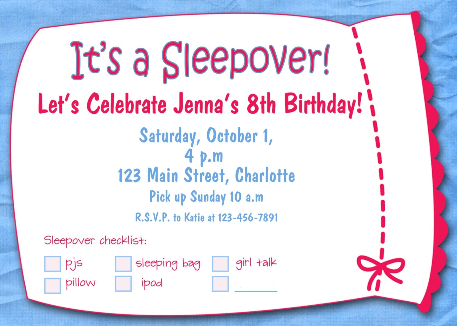 It's just a picture of Dynamic Printable Slumber Party Invitations