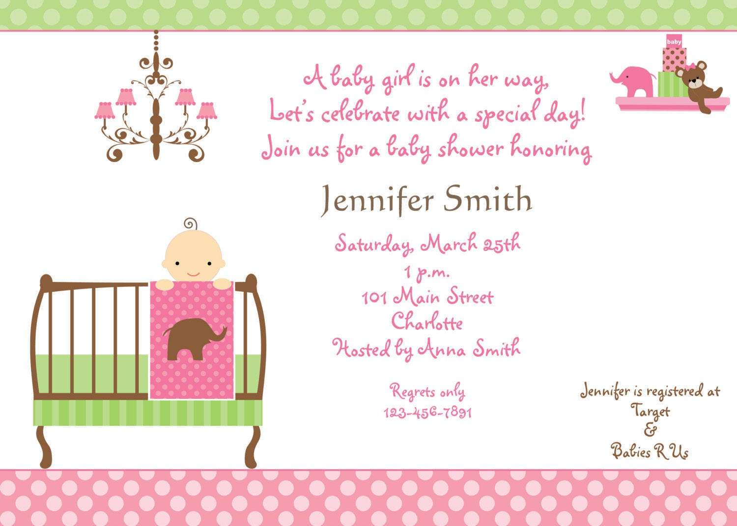 baby shower invitation baby girl shower invitation you