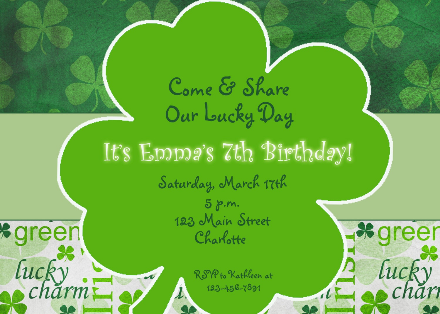 St. Patricks Day party birthday invitation - St. Patricks Day St ...