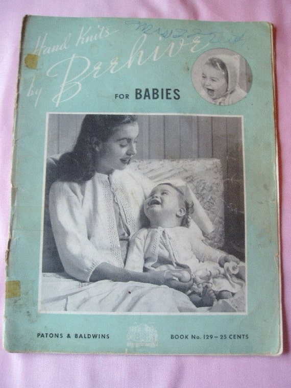 Vintage Knitting Pattern Book Baby and Toddler Clothing By
