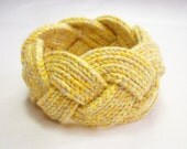 Recycled Cotton Dinara Braid Unisex Yellow Cuff