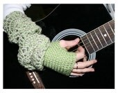 Lace and Light Fingerless Gloves