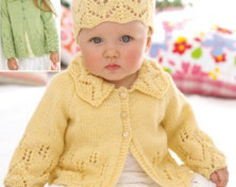 Baby Sweet Pea Sweater and Hat