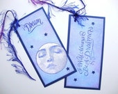 Dream Bookmarks Gift Tags Moon and Stars Celestial