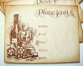 Invitations Wine and Cheese Party Wine Tasting Rustic Vineyard