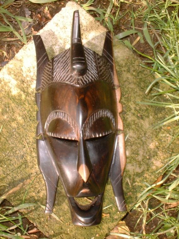 Vintage Hardwood African Mask 1