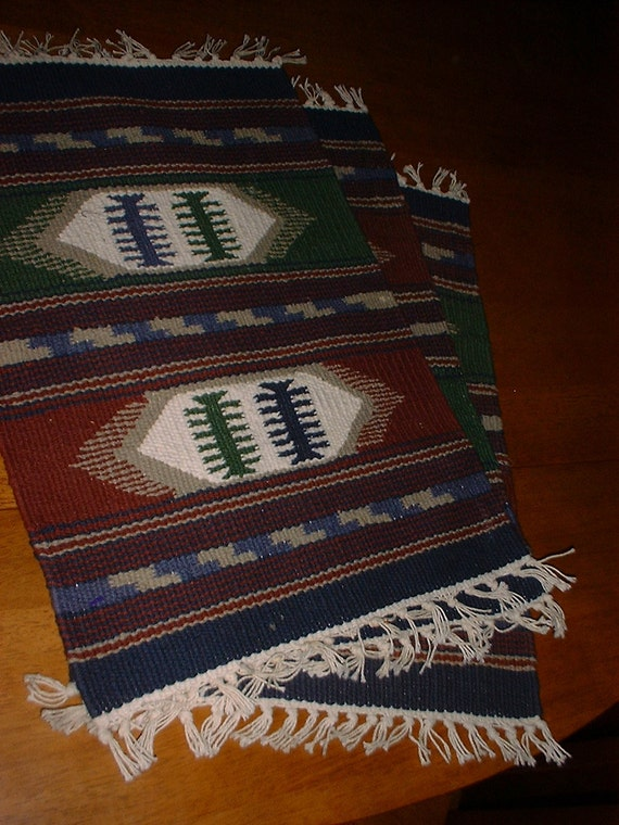 Three Loom Woven Placemats in Native Designs REDUCED