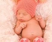 Crochet pom pom hat - Newborn