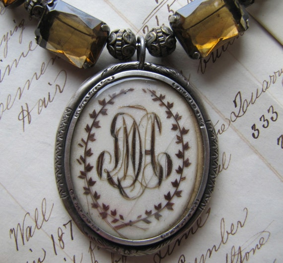 French Hair Work Necklace