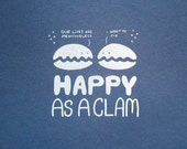 Happy as a Clam Mens Tee (Blue)