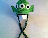 Alien Toy Story with Braids Handmade Hat Beanie