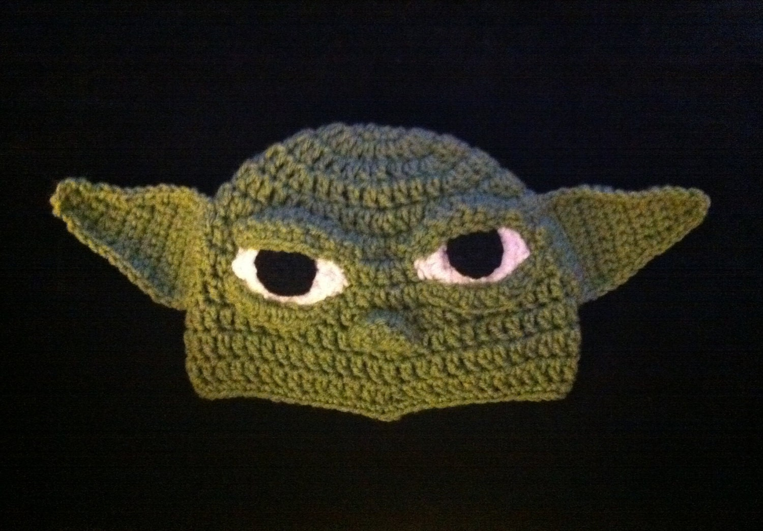 Crochet Yoda Pattern : THE YODA Stars Wars Crochet Hat Beanie by KariesCrochetDesigns