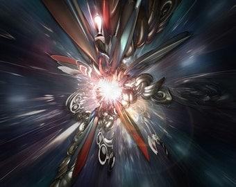 Universe05 - Original Art - 8X8 Art Print