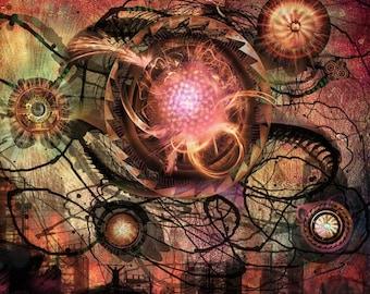 Universe03 - Original Art - 8X8 Art Print