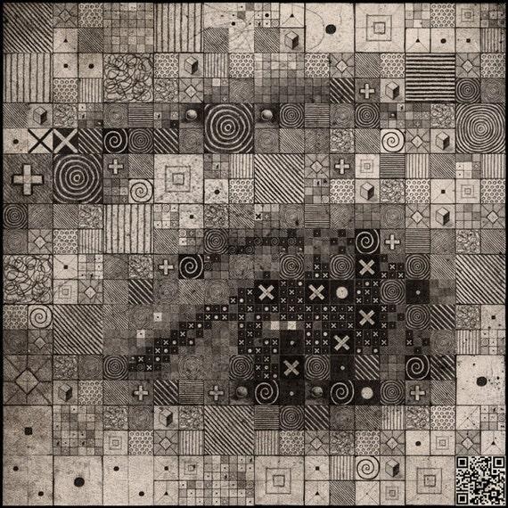 Digital Analogue Synthesis 1.0 - Original Art - 8X8 Art Print