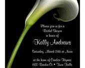 Calla Lily Bridal Shower Invitation