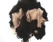 Black and white ruffled skirt