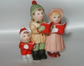 Lefton Christmas Carolers Figurines for Colonial Village - Holiday Family Grouping