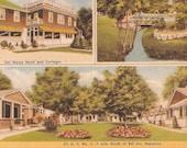 Maryland Postcard Del Haven Cottages Hotel Bel Air Roadside Vintage Linen Post Card Souvenir US Route 1 MD Motel Collectible Maryland