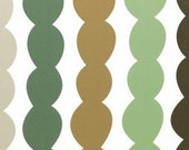 Destash fabric- 3.5 meters- green and brown bubbles
