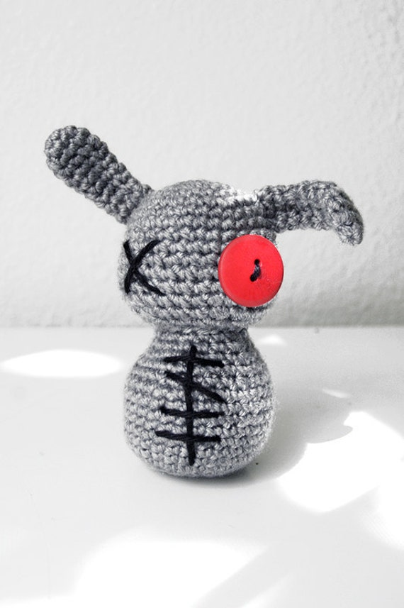 Crochet Zombie Patterns : PATTERN Crochet Zombie Bunny Amigurumi by LadyLilliput on Etsy