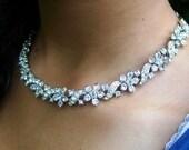 vintage rhine stone adjustable necklace