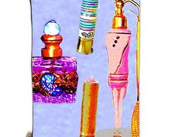 Vintage Makeup Bag, vintage pouch, zipper pouch, lipstick bag, purple makeup bag, women's cosmetic pouch, bags and purses, document bag