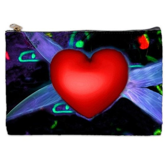 Have A Heart, Cosmetic Bag, red heart, big heart tattoo, Valentine's Day gift, Valentine's Day heart, cosmetic makeup bag, cosmetic Pouch