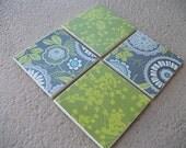 Custom Coaster Set - Green with Envy