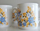 Vintage Retro Daisy Mug Set of 6