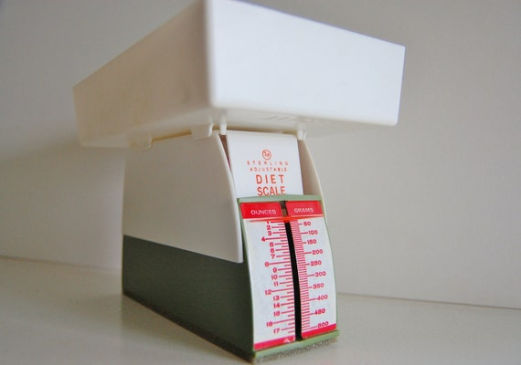 Vintage Retro Sterling Diet Scale