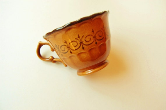 Vintage Retro Brown Ceramic Coffee Mug