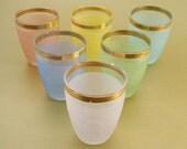 Set of Six Pastel Shot Glasses