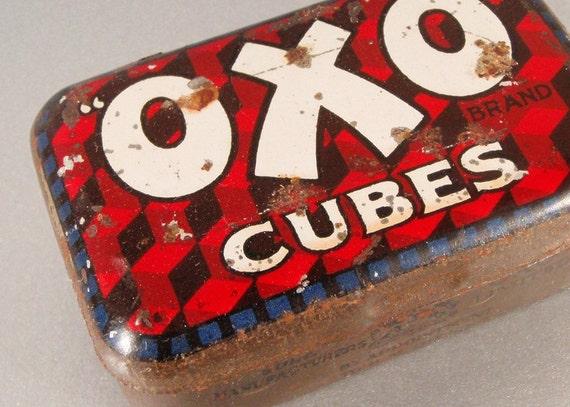 Vintage Tin OXO Stock Cubes Kitchenalia Advertising