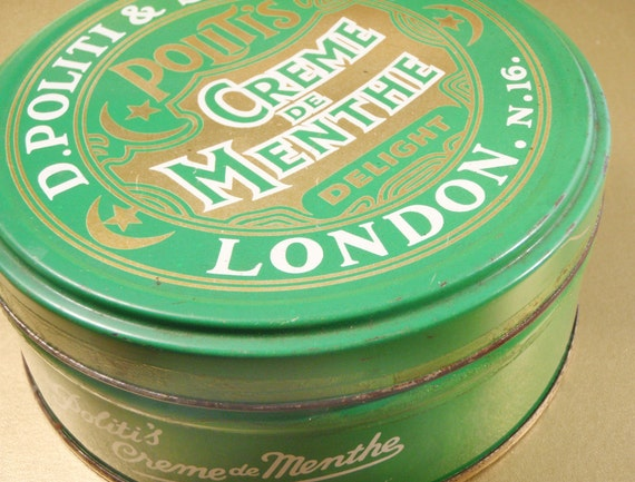 Vintage Tin for Mints or Sweets Politi's London
