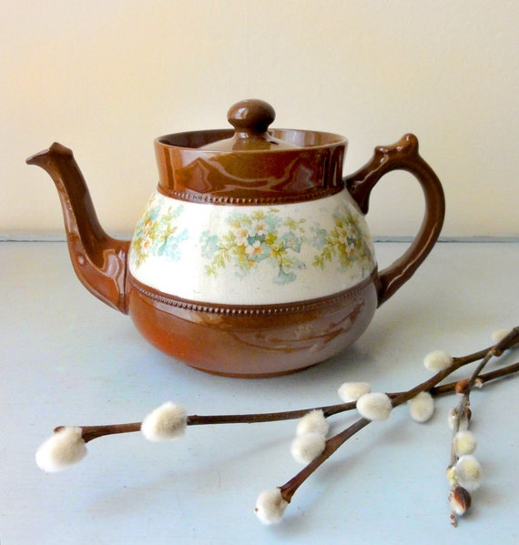 Antique Redware Teapot from England