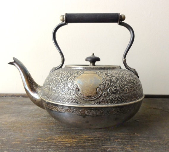 Antique English Silver Plate Teapot