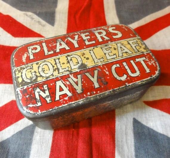 Vintage Tobacco Tin Players Navy Cut
